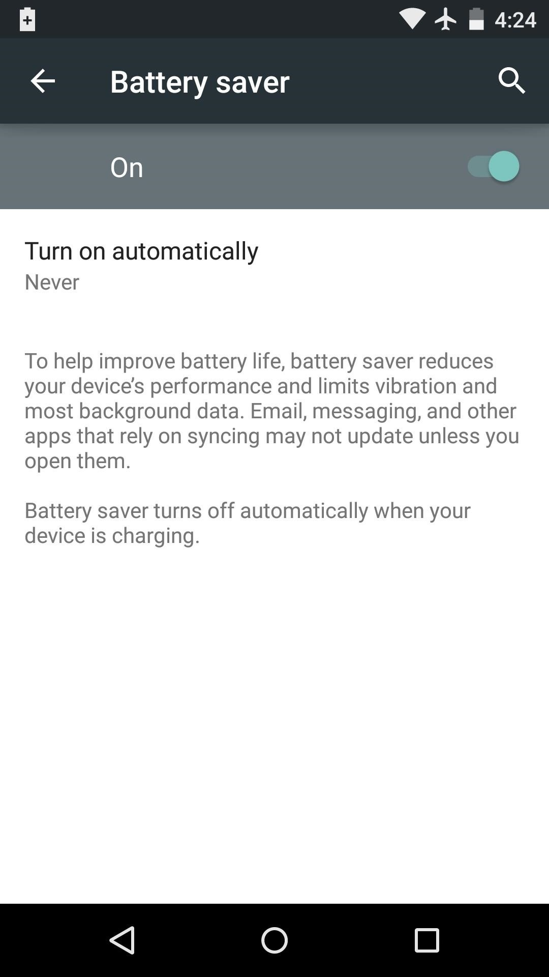 How to Remove the Orange Bars in Battery Saver Mode on Android Lollipop