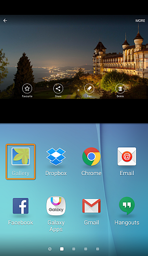 android screen showing gallery